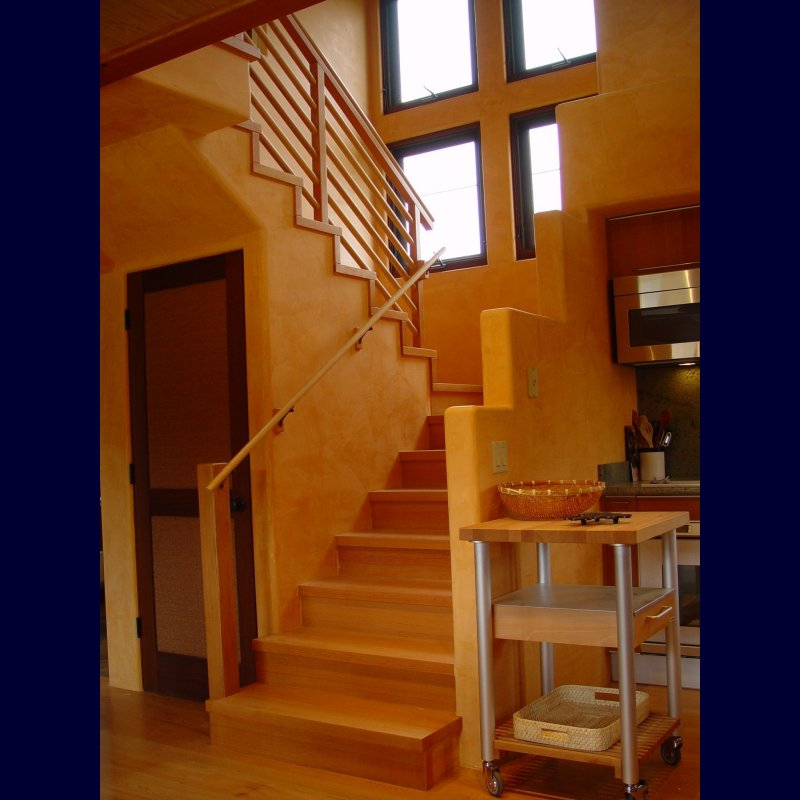 Stairs to the second floor master suite
