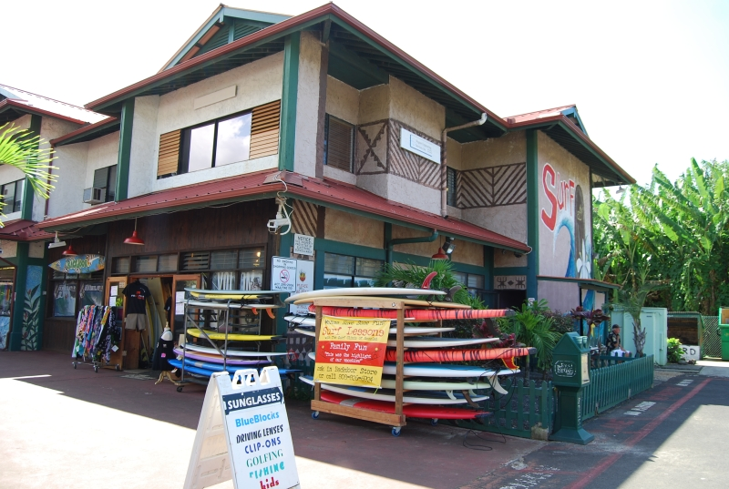 Surf shops for lessons and board rentals