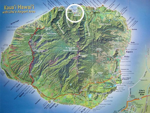 Hanalei Beach House Maps